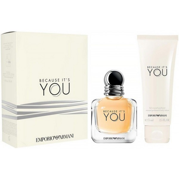 Armani Because It's You 50ml Edp + Bodylotion Geschenkset