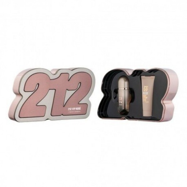 Carolina Herrera 212 VIP Rosé 50ml Edp + Bodylotion Geschenkset