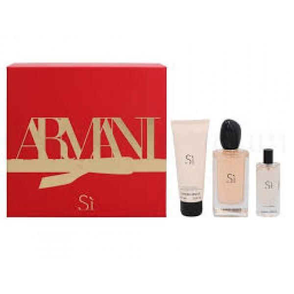 Armani Si 100ml Edp + Mini + Bodylotion Geschenkset