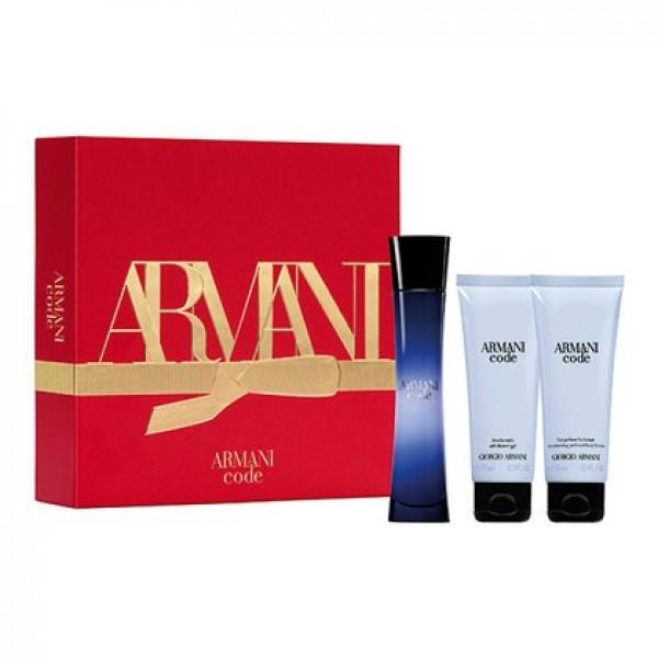 Armani Code Femme 50ml Edp + Showergel + Bodylotion Geschenkset