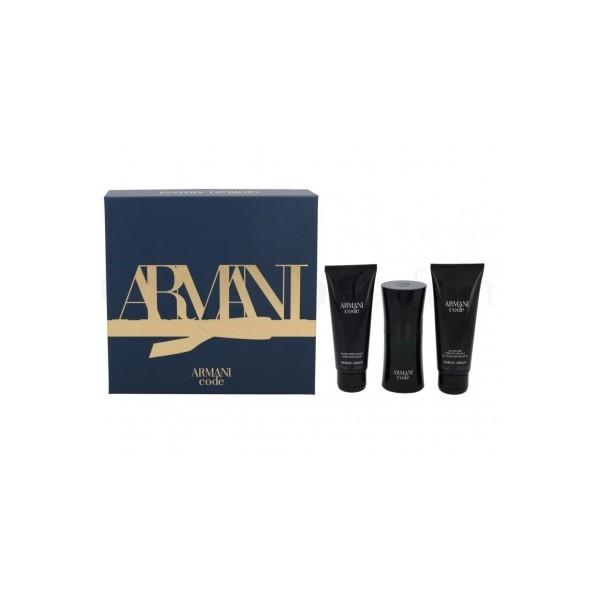 Armani Code Homme 50ml Edt + Showergel + Aftershavebalm Geschenkset