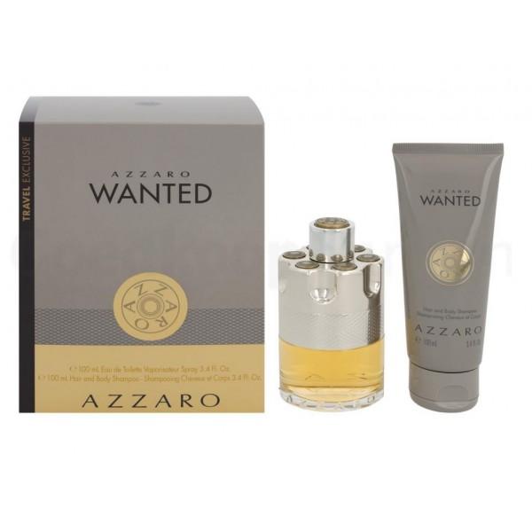 Azzaro Wanted 100ml Edt + Hair & Shampoo Geschenkset