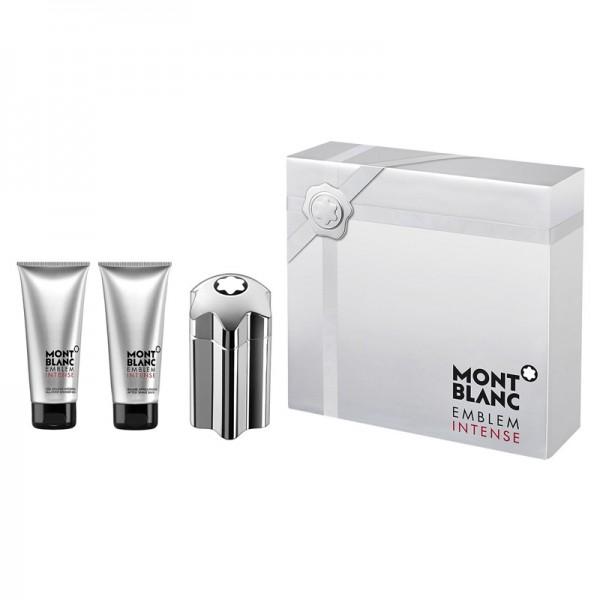 Mont Blanc Emblem Intense 100ml Edt + Aftershavebalm + Showergel Geschenkset