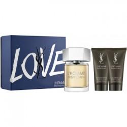 Y.S.L. L'Homme 100ml Edt + Aftershavebalm + Showergel Geschenkset