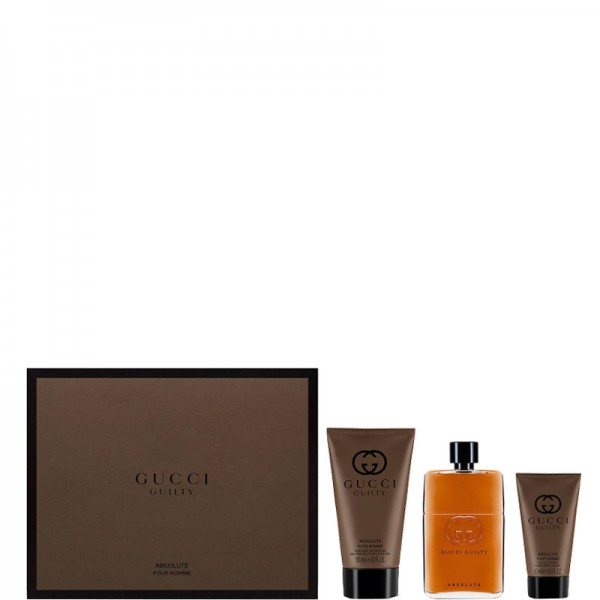 Gucci Guilty Absolute 90ml Edp + 50ml ASB + 150ml SG Geschenkset