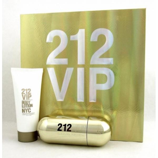 Carolina Herrera 212 VIP Woman 80ml Edp + 100ml Bodylotion Geschenkset Set