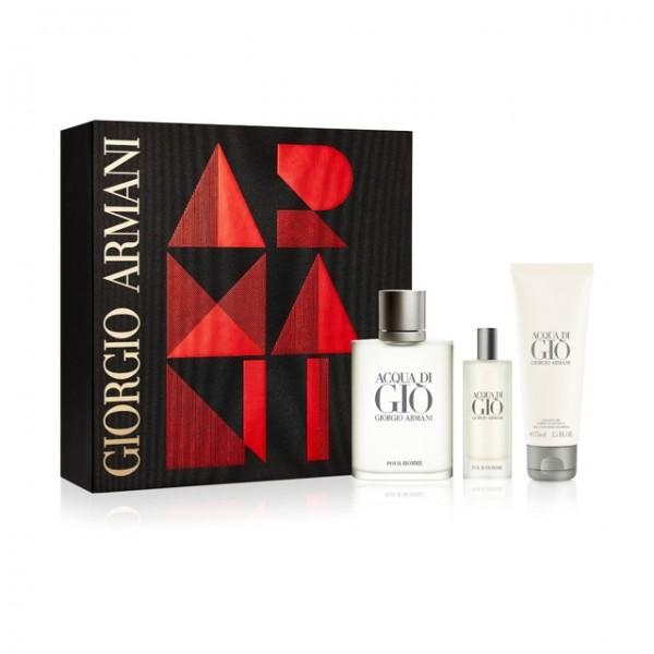 Armani Acqua di Gio 100 ml Edt + 15 ml Edt + 75 ml SG Geschenkset