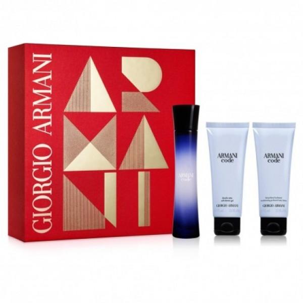 Armani Code Femme  EDP 50 ml + SG 75 ml + BL 75 ml Geschenkset