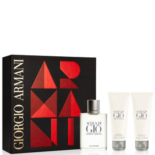 Armani Acqua di Gio 100ml Edt + Showergel + Aftershave Geschenkset