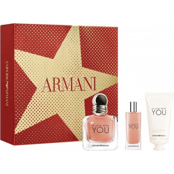 Armani In Love With You 50ml Edp + 15ml Edp + Handcream Geschenkset