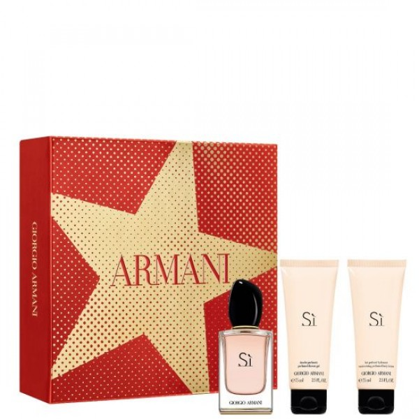 Armani Si 50ml Edp + Bodylotion + Douchegel Geschenkset