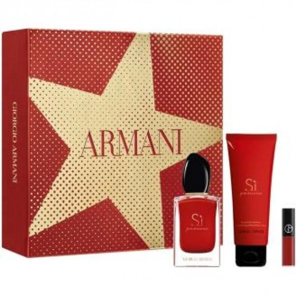 Armani Si Passione 50ml Edp + Bodymilk + Mini Lip Maestro Geschenkset
