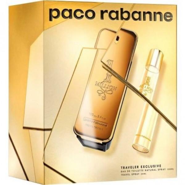 Paco Rabanne 1 Million 100ml Edt + Mini 20ml Edt Geschenkset