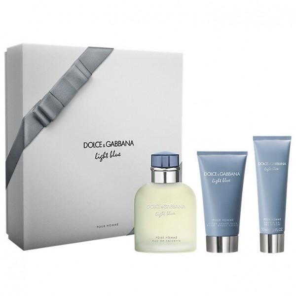 Dolce & Gabbana Light Blue Pour Homme 125ml Edt + SG + ASB Geschenkset
