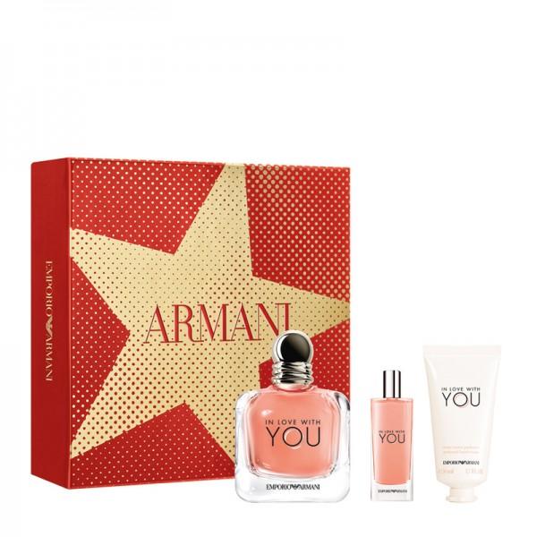 Armani In Love With You 100ml Edp + Mini + Handcréme Geschenkset